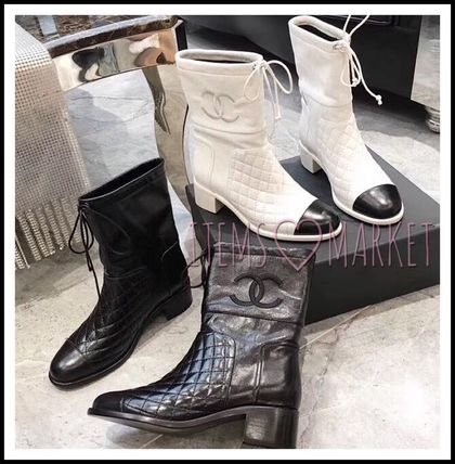 1f613a6cb CHANEL MATELASSE 2018-19AW Women s Mid Heel Boots Round Toe 3-5 cm  Shop  Online in US
