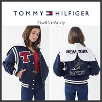 Tommy Hilfiger Casual Style Plain Medium Varsity Jackets