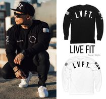 Live Fit Crew Neck Street Style Long Sleeves Cotton