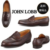 John Lobb LOPEZ Loafers Plain Leather U Tips Loafers & Slip-ons