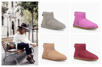 UGG Australia CLASSIC MINI Rubber Sole Sheepskin Plain Ankle & Booties Boots