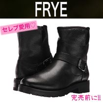 FRYE Round Toe Rubber Sole Casual Style Plain Leather