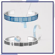 Louis Vuitton DAMIER Bangles Other Check Patterns Unisex Street Style Silver