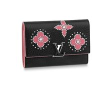 Louis Vuitton CAPUCINES Leather With Jewels Folding Wallets