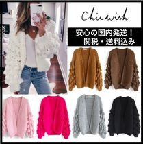 Chicwish Casual Style Long Sleeves Plain Cardigans