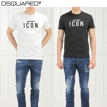 D SQUARED2 More T-Shirts Street Style U-Neck Cotton Short Sleeves T-Shirts