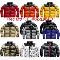 THE NORTH FACE Nuptse Short Camouflage Monoglam Street Style Down Jackets