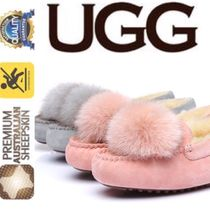 UGG Australia Moccasin Round Toe Casual Style Suede Plain