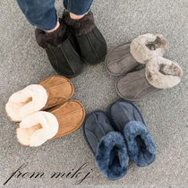 Suede Street Style Plain Slippers Sandals