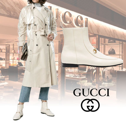 a6a7e508087 GUCCI Jordaan Leather Elegant Style Ankle   Booties Boots by Fullmoonsa -  BUYMA