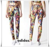 adidas Casual Style Street Style Other Animal Patterns Long Bottoms