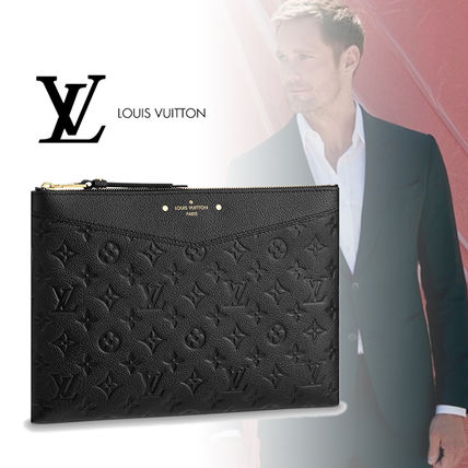 Louis Vuitton Clutches Monogram Leather Clutches