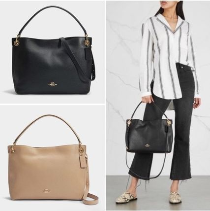 ... Coach Shoulder Bags Street Style 2WAY Plain Leather Elegant Style  Shoulder Bags ... 8643f034d367f