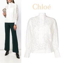 Chloe Peplum Long Sleeves Medium Lace Elegant Style
