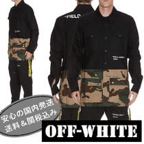 Off-White Camouflage Bi-color Long Sleeves Cotton Shirts