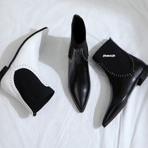 Casual Style Faux Fur Plain Ankle & Booties Boots