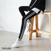 Casual Style Plain Cotton Long Pants