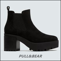 PULL & BEAR Faux Leather Platform Chelsea Boots