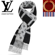 Louis Vuitton Cashmere Plain Fringes Scarves
