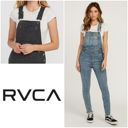 new collection exceptional range of styles low price sale RVCA 2018-19AW Dungarees Casual Style Street Style Plain Cotton Dresses