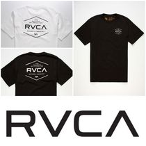 RVCA Crew Neck Street Style Cotton Short Sleeves