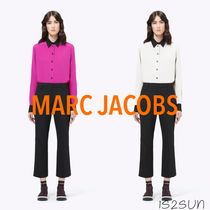 MARC JACOBS Silk Long Sleeves Plain Medium Office Style Shirts & Blouses