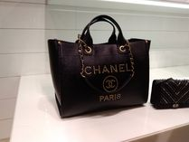 CHANEL DEAUVILLE A4 2WAY Leather Handbags