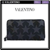 VALENTINO Star Camouflage Unisex Long Wallets