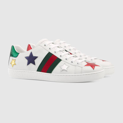 ac0d01eeab5 ... GUCCI Low-Top Heart Star Rubber Sole Casual Style Street Style Leather  3 ...