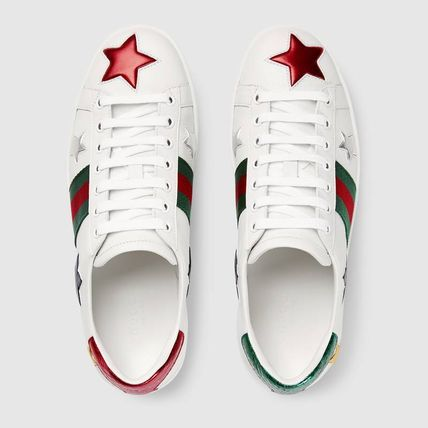 aefdcb7e541 ... GUCCI Low-Top Heart Star Rubber Sole Casual Style Street Style Leather  4 ...