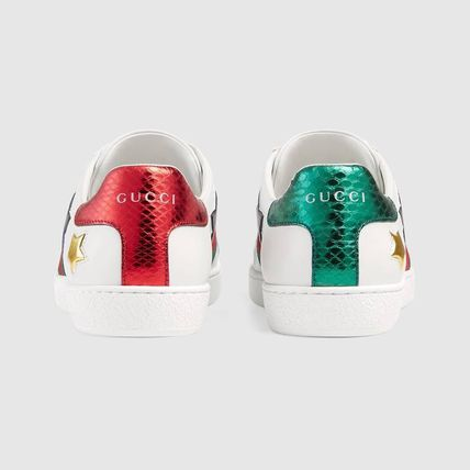 7ed1bca606d ... GUCCI Low-Top Heart Star Rubber Sole Casual Style Street Style Leather  5 ...