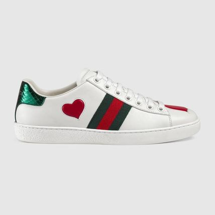e8ae138e319 ... GUCCI Low-Top Heart Star Rubber Sole Casual Style Street Style Leather  7 ...