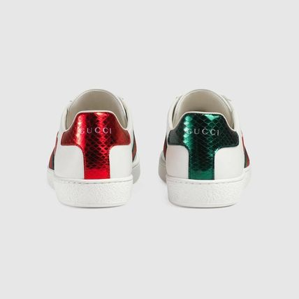 f0f2a2b528b ... GUCCI Low-Top Heart Star Rubber Sole Casual Style Street Style Leather  10 ...