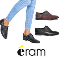 eram Flower Patterns Casual Style Plain Leather