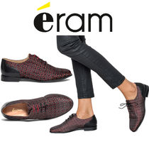 eram Other Check Patterns Casual Style Plain Leather
