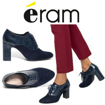 eram Casual Style Plain Block Heels Loafer & Moccasin Shoes