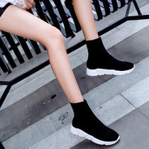 Round Toe Rubber Sole Casual Style Street Style Bi-color