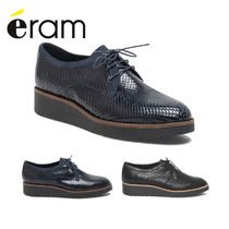 eram Casual Style Plain Leather Python Loafer & Moccasin Shoes