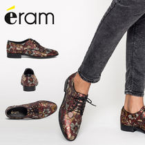 eram Flower Patterns Casual Style Leather Loafer & Moccasin Shoes