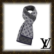 Louis Vuitton MONOGRAM Monogram Cashmere Fringes Scarves