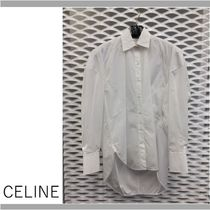 CELINE Plain Cotton Oversized Shirts & Blouses