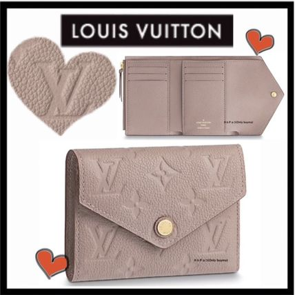 Louis Vuitton Folding Wallets Monogram Unisex Calfskin Plain Folding Wallets