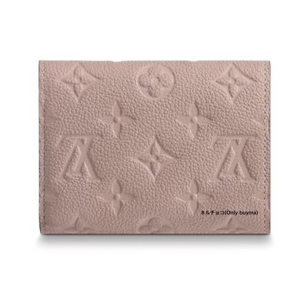 Louis Vuitton Folding Wallets Monogram Unisex Calfskin Plain Folding Wallets 5