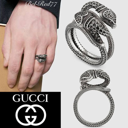 354e4cfb112 GUCCI 2018-19AW Unisex Other Animal Patterns Silver Rings (525177 ...
