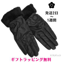 MARY QUANT Flower Patterns Casual Style Plain Smartphone Use Gloves