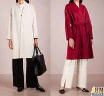 Weekend Max Mara Wool Plain Medium Office Style Wrap Coats