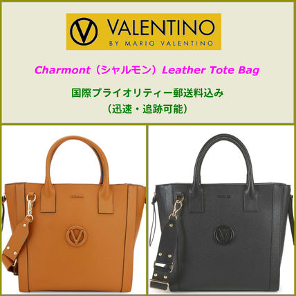 A4 Plain Leather Office Style Oversized Totes