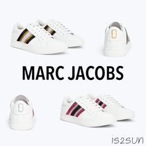 MARC JACOBS Stripes Casual Style Street Style Plain Leather