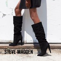 Steve Madden Casual Style Suede Plain Pin Heels High Heel Boots