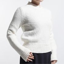 CELINE Crew Neck Wool Long Sleeves Medium Elegant Style Sweaters